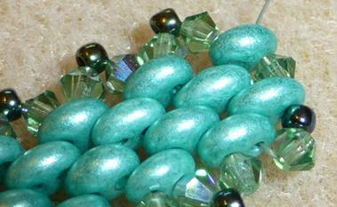 Mystique bead instrction with Super Duo, Twinbeads