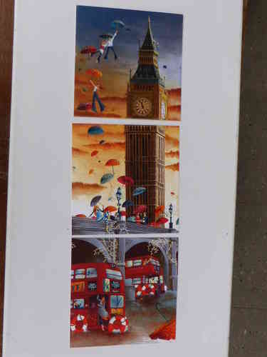 Big Ben London, Postkarte im 3er Set 14 cm * 14 cm